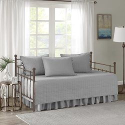 Comfort Spaces – Kienna Daybed Set – Stitched Quilt Pattern – 5 Pieces – ...