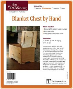Fine Woodworking's Blanket Chest by Hand Plan
