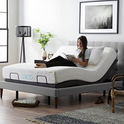 LUCID L300 Adjustable Bed Base – Motorized – Assembles in 5 Minutes – Dual USB ...