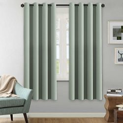 H.Versailtex Winter Season Thermal Insulated Nickel Grommet Blackout Curtains / Draperies for Be ...