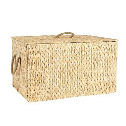 Household Essentials ML-6615 Extra Large Wicker Storage Box with Lid – 15.94″H x 27& ...
