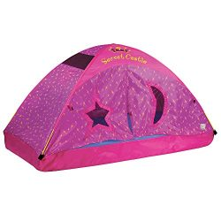 Pacific Play Tents Kids Secret Castle Bed Tent Playhouse – For Full Size Mattress