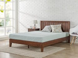 Zinus 12 Inch Deluxe Wood Platform Bed with Headboard / No Box Spring Needed / Wood Slat Support ...