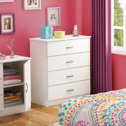 South Shore Libra 4-Drawer Dresser, Pure White