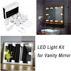 Hollywood Style LED Vanity Mirror Lights Kit for Makeup Dressing Table Vanity Set Mirrors with D ...