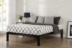 Zinus Quick Snap TM 14 Inch Platform Bed Frame / Mattress Foundation / with Less than 3 Inch Spa ...