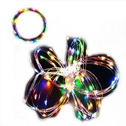 Pack of 2Sets 33ft(10m) 4 Color LED String Lights 100 LEDs Oncidium Decorative Lights Decor Rope ...