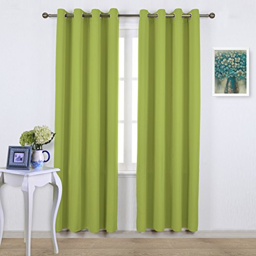 NICETOWN Green Blackout Draperies Curtains