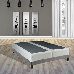 Spinal Solution 8-Inch Queen Size Fully Assembled Split Foundation Box Spring for Mattress, Sens ...