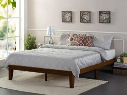 Zinus 12 Inch Wood Platform Bed / No Boxspring Needed / Wood Slat Support / Antique Espresso Fin ...