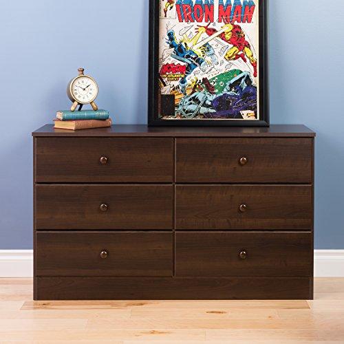 Prepac astrid 6 drawer dresser espresso zbbip zbbip for Spring hill designs bedroom furniture