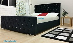 Florida Upholstered Chenille bed frame in different size available (4FT6 BED FRAME, BLACK) by Co ...