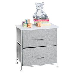 mDesign Fabric Baby 2-Drawer Dresser and Storage Organizer Unit for Nursery, Bedroom, Play Room  ...