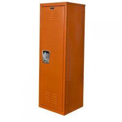 Hallowell Kid Locker, 15″W x 15″D x 48″H, 728 Hoop (orange), Single Tier, 1-Wi ...