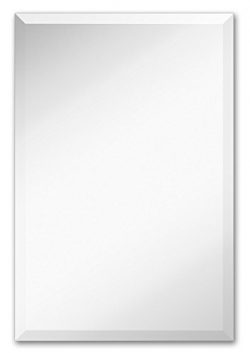 Large Simple Rectangular Streamlined 1 Inch Beveled Wall Mirror | Premium Silver Backed Rectangl ...
