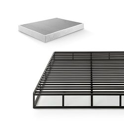 Zinus 7.5 Inch Quick Lock Smart Box Spring / Mattress Foundation / Strong Steel Structure / Easy ...