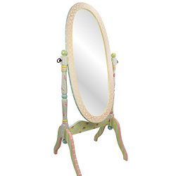 Fantasy Fields – Crackled Rose Thematic Kids Wooden Standing Mirror for Girls | Imaginatio ...