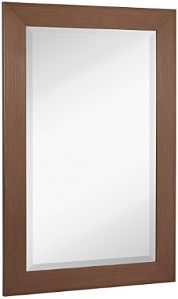 NEW Bronze Copper Modern Metallic Look Rectangle Wall Mirror | Brushed Metal Appearance | Contem ...