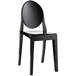 Modway Casper Modern Acrylic Dining Side Chair in Black