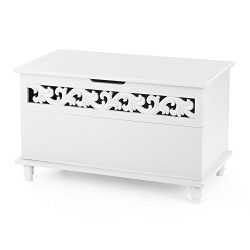 iKayaa Modern Rectangle Storage Chest Large Toy Blanket Storage Ottoman Bench