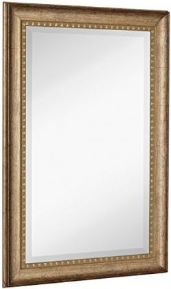 NEW Large Transitional Rectangle Wall Mirror | Luxury Designer Accented Frame | Solid Beveled Gl ...