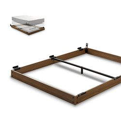 Zinus 5 Inch Wood Bed Frame for Box Spring & Mattress Set / Keep Pets From Beneath Your Bed, ...