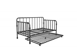 Little Seeds Monarch Hill Wren Metal Daybed with Trundle Twin, Black