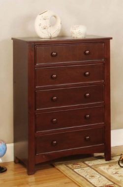 Furniture of America Oscar 5-Drawer Bedroom Chest, Cherry