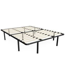 Zinus 14 Inch MyEuro SmartBase / Wooden Slat / Mattress Foundation / Platform Bed Frame / Box Sp ...