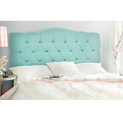 Barton Full/Queen Cotton Upholstered Tufted Button Headboard (Sea Mist Green)