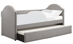 Homelegance 4972 Tarpen Daybed Nail Head Accent, Twin