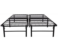 Sleeptune 14 Inch Platform Bed Frame/Mattress Foundation/Box Spring Replacement/Noise-Free/Under ...