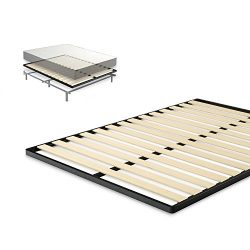 Zinus Easy Assembly Wood Slat 1.6 Inch Bunkie Board / Mattress Foundation / Bed Slat Replacement ...