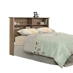 Sauder 419321 Headboard, Bed Room Bookcase Heaboard, Full/Queen, Salt Oak