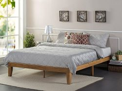Zinus 12 Inch Wood Platform Bed / No Boxspring Needed / Wood Slat Support / Rustic Pine Finish,  ...