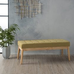 Anglo Olive Green Fabric Bench