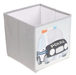 Police Car Collapsible Storage Organizer by Clever Creations | Storage Box Folding Storage Ottom ...
