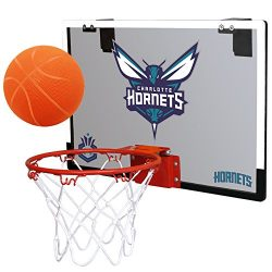 NBA Charlotte Bobcats Game On Indoor Basketball Hoop & Ball Set, Regular, Teal