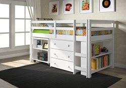 DONCO Kids 760-W Low Study Loft Bed, White