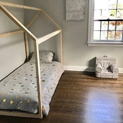Twin House Bed Frame (2×3 wood pieces)