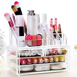 Tomasar Acrylic Makeup Organizer Cosmetic Jewelry Storage Display Multipurpose Boxes Case &#8211 ...
