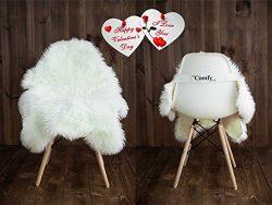 Sheepskin Faux Fur Chair Cover/ Rug /Seat Pad/ Area Rugs For Bedroom Sofa Floor Vanity Nursery D ...