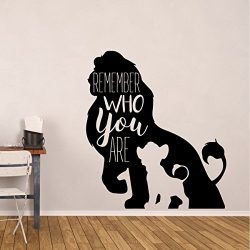 Simba Wall Decor – Disney The Lion King Decor- Remember Who You Are – Vinyl Decorati ...