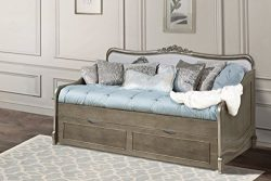 Hillsdale Kids and Teens 30040NT Kensington Elizabeth Daybed with Trundle, Antique Silver