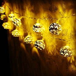 LED String Lights,Goodia Battery Operated 40 LED Gold Moroccan for Bedroom,Curtain,Patio,Lawn,La ...