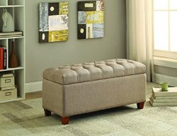 Coaster 500064 Home Furnishings Storage Bench, Taupe