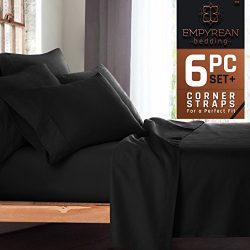 Premium 6-Piece Bed Sheet & Pillow Case Set – Luxurious & Soft Full Size Linen, Extra De ...