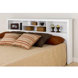 Prepac Monterey White King Storage Headboard