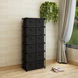 Home-Like 12-Drawer Storage Tower Unit DIY Storage Organizer Cabinet Multi-Purpose Storage Chest ...