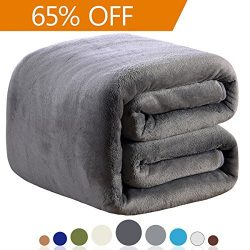 Fleece Blanket Queen Size 350GSM Lightweight Throw for The Bed Extra Soft Brush Fabric Super War ...